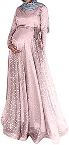 8fe5bdde47eec Mikey Store Women Maxi Plus Size Maternity Dresses Baby Shower Slim Fit  Loose
