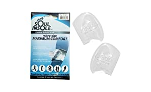 Soul Insole Shoe Bubble Orthotic Insole – Memory Gel Insoles for Plantar Fasciitis, Pronation, Heel Pain – Highly Durable Soft Memory Gel (1. Transparent (Thicker Support), Medium)
