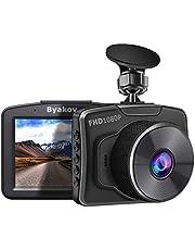 """Byakov Dashcam, 2""""écran LCD 1080P Full HD Camera Voiture avec G-Sensor, WDR, Enregistrement en Boucle, 170° Grand Angle, Vision Nocturne, Détection de Mouvement"""