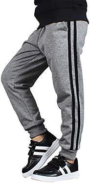 TILPAWOGGA Boys' Casual Sports Sweatpants Elastic Waist Pants Jogger Active P