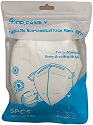 Disposable KN95 Face Masks on the FDA EUA List, Non-Woven 5-Layer Disposable Mask, Elastic Ear Loops, Adjustab