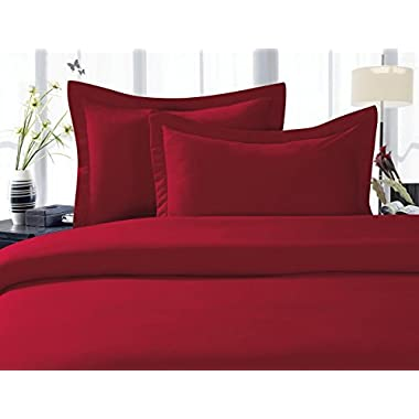 Elegant Comfort 1500 Thread Count WRINKLE RESISTANT ULTRA SOFT LUXURIOUS 4-Piece Bed Sheet Set 100 % HypoAllergenic, Deep Pocket Up to 16 - Many Size and Colors , QUEEN , Burgundy