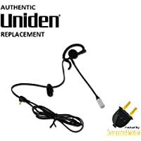 Uniden Authentic Replacement GMR GMRS Walkie Talkie 2 Way Radio Hands Free Rubber Black Earpiece Headset Headphone Microphone 2.5 MM Plug Boom Mic Vox