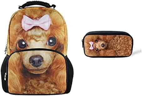 bab79ddc2f Bigcardesigns 3D Animal Large Backpack with Pencil Case 2 pcs School Bag  Set for Teenager