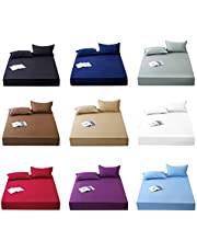 ZOUJIN Fitted Bed sheet/bolster case/Pillow case Single/Super Single/Queen/King Size Pure Color