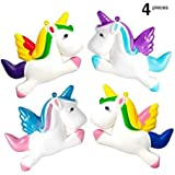 4 Piece Unicorn Slow Rising Squishy Set in 4 Different Custom Designs, Soft and Scented - Ideal Stress Relief, Birthday Gift, Children's Toy, Charmer and Props