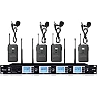 Boly 4200SB 4x100 Channel A System Professional uhf Body Pack lapel Wireless Tie Clip Microphone