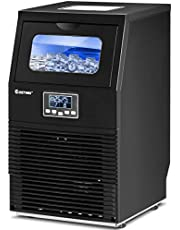 Costway Commercial Ice Maker 88 lbs/24h Automatic Portable Freestanding Ice Cube Maker Machine for Home Supermarkets Cafes Bakeries Bars Restaurants Snack Bars with Scoop Black