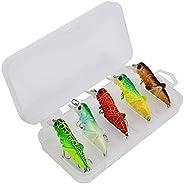 Simulation Grasshopper Fishing Lure 5.5cm Artificial Bait Tackle Wobbler Lure Plastic Floating Water Bait Fish