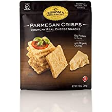 Sonoma Creamery Cheese Crisps - Parmesan Savory Cheese Cracker Snack High Protein Low Carb Gluten Free Wheat Free (10 Ounce)