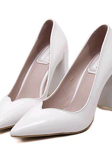 GGX/ Zapatos de mujer-Tacón Robusto-Tacones-Tacones-Exterior / Casual-Semicuero-Blanco / Gris , white-us8 / eu39 / uk6 / cn39 , white-us8 / eu39 / uk6 / cn39 white-us8 / eu39 / uk6 / cn39