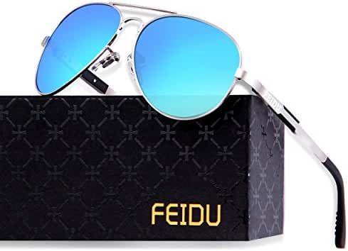FEIDU Mens Polarized Aviator Sunglasses Metal Frame Unisex Sun Glasses FD9001