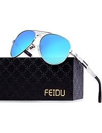Mens Polarized Aviator Sunglasses Metal Frame Unisex Sun Glasses FD9001