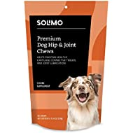 Amazon Brand - Solimo Premium Dog Hip & Joint Supplement Chews with EPA and DHA, 60 Count