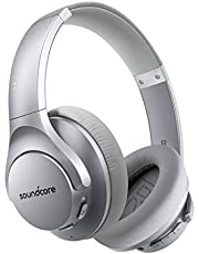 Anker Soundcore Life Q20 Hybrid Active Noise Cancelling Headphones, Wireless Over Ear Bluetooth Headphones with 40H Playtime, Hi-Res Audio, Deep Bass, Memory Foam Ear Cups and Headband for Travel,Work