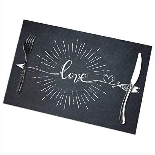 Eliuji Love Arrow - Alfombrillas Antideslizantes para el dia de San Valentin Juego de 6 para mesas de Comedor Alfombrillas Lava