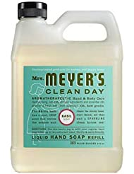 Mrs. Meyers Liquid Hand Soap Refill, Basil Scent, 33...