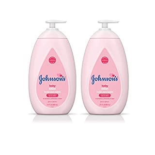 Johnson's Moisturizing Pink Baby Lotion with Coconut Oil, Hypoallergenic, 2 x 27.1 fl. oz