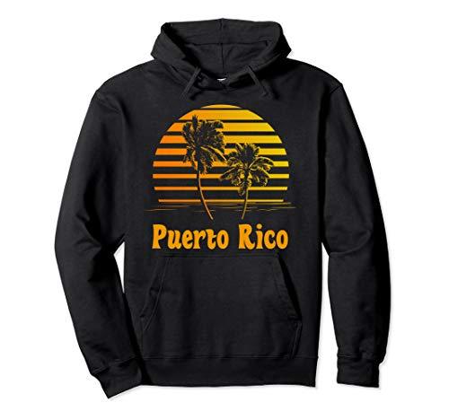 Puerto Rico Sunset Palm Trees Beach Vacation Hoodie ()
