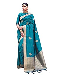 Sarees for Women Cotton Art Silk Woven Saree | Ethnic Traditional Indian Wedding Gift Sari with Unstitched Blouse