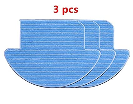 Image Unavailable. Image not available for. Color: HBK 3pcs Replacement Mop Cloth for ILIFE V7s Pro Robot Vacuum ...
