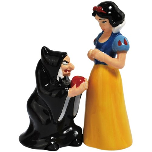 Westland Giftware Magnetic Ceramic Salt and Pepper Shaker Set, 4.5-Inch, Disney Snow White and Evil Queen, Set of 2