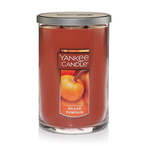 Yankee Candle Spiced Pumpkin Regular Perfect Pillar Candle, Food & Spice Scent (Yankee Pumpkin Candle Spiced)