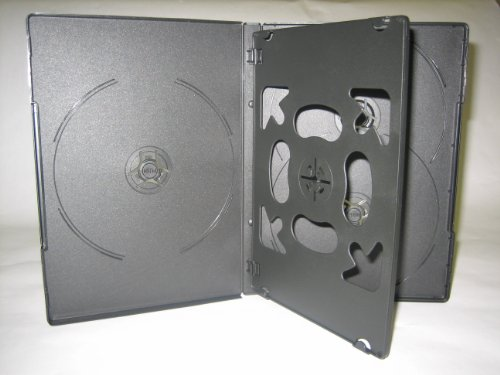 5 DISC DVD Cases W/ SWING TRAY, 14mm, DH5BLK, 100 pcs/cs by LDB