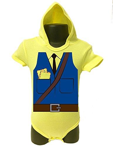 BABY Hoodie Bodysuit Onesie Romper UNISEX HALLOWEEN FUNNY Comes Gift Wrapped (0-6 MONTHS, YELLOW MAILMAN) (Juegos De Decorar De Halloween)