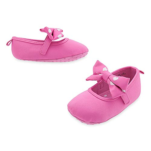 Minnie Mouse Pink Baby Costume Shoes w/Bow on Top Disney (6-12M)