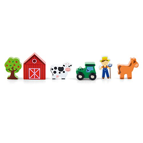 - Viga Toys - 50812 - Train Set Accessory - Farm - 7 pcs.
