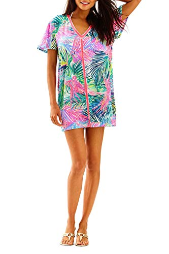 Lilly Pulitzer Bonita Cover Up, Multi Scarlet Macaw, XXS