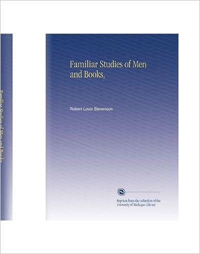Familiar Studies Of Men And Books Robert Louis Stevenson Amazon