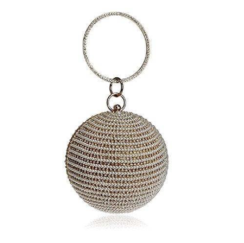 BESTWALED, Sac pour femme à porter à l'épaule, Silver (Argenté) - YHB411-3 Doré