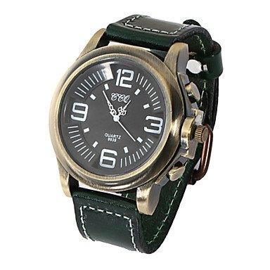 Correa de cuero de los hombres relojes fit impermeable vintage-reloj libre (varios coloures) Blanco blanco: Amazon.es: Deportes y aire libre