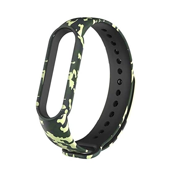 WOW Imagine Military Army Style Replacement Wrist Strap for Mi Band 5 | Silicone Camouflage Adjustable Printed Sport