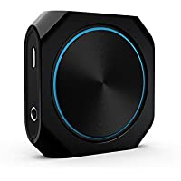 Vitalitim Long Range, Apt-X Low Latency and Dual link connection Bluetooth Audio Transmitter and Receiver Stereo Music Adapter (Black)