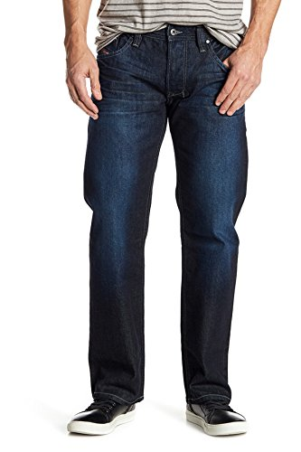 Diesel Larkee Regular Straight Leg Button Fly Denim Jeans 0RZ32 Dark Wash 30