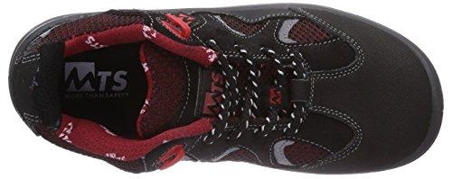 MTS M-Gecko Galior S1P Flex 41189 Unisex-Erwachsene Sicherheitsschuhe Schwarz (Schwarz/Rot)