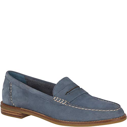 Blue Sperry Pennies (Sperry Top-Sider Seaport Penny Loafer Women 10 Slate Blue)