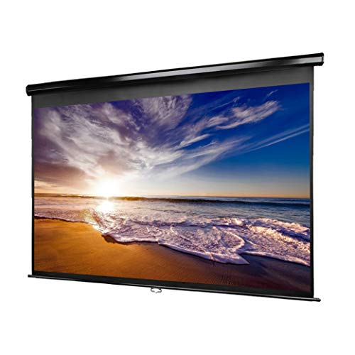 (Manual Pull Down Projector Screen - 100 Inch - 16:9 Aspect Ratio - 1.1 Gain - Premium Matte PVC Screen - Lightweight Aluminum Housing - Easy to Install - All Necessary Hardware Included)
