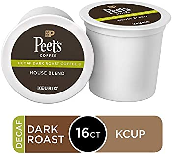 16 Count Peet's Coffee Decaf House Blend Single Serve K-Cup Coffee Pods