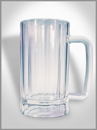 Tooters Promotions Plastic Beer Mugs, 6 Glasses