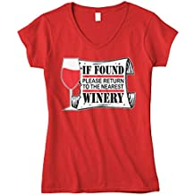Cybertela Women's If Found Please Return To Nearest Winery Fitted V-Neck T-Shirt