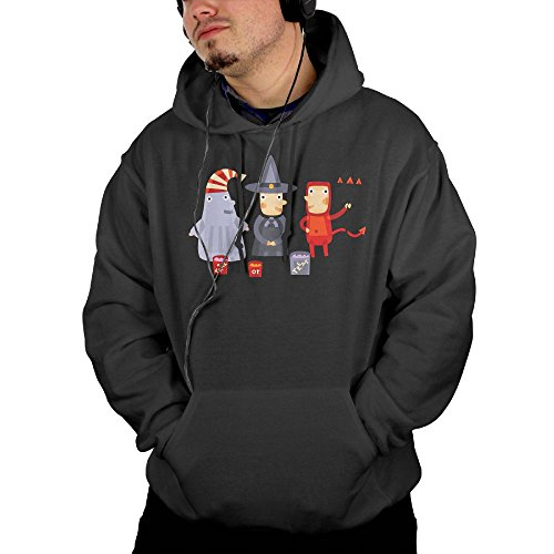 Mens Halloween Pullover Sweatshirts Hoodie With Front Pocket X-Large