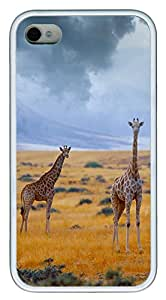 iPhone 4 4s Cases & Covers - Giraffe Custom TPU Soft Case Cover Protector for iPhone 4 4s - White