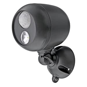 Mr Beams MB360 Wireless LED Spotlight with Motion Sensor and Photocell, Dark Brown