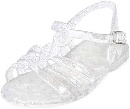 The Children's Place Kids' TG Patched Jelly Flat Sandal