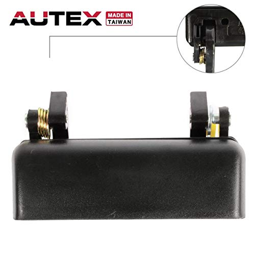 (AUTEX Door Handle Exterior Front Left Driver Side Compatible with Ford Ranger 1993-2003 Replacement for Mazda B2300 B2500 B3000 B4000 94-00, 90021)