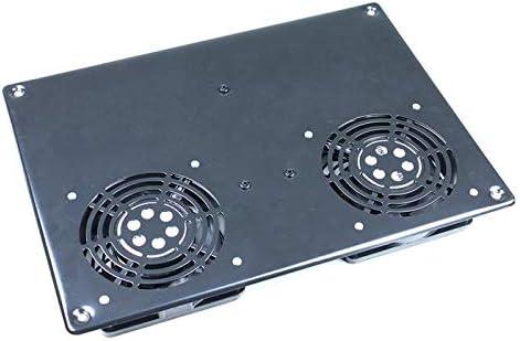 KIMEX 110-0202 Tapa Superior 2 Ventiladores para Armario Rack 19
